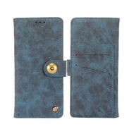 *Sale* Faux Suede Leather Wallet with Detachable Magnetic Case for Motorola Moto E4 Plus - Blue