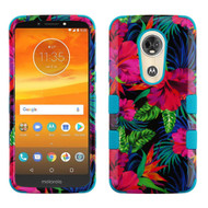Military Grade Certified TUFF Image Hybrid Armor Case for Motorola Moto E5 Plus - Electric Hibiscus