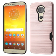 *Sale* ID Card Slot Hybrid Case for Motorola Moto E5 Plus - Rose Gold