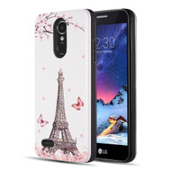 *Sale* Art Pop Series 3D Embossed Printing Hybrid Case for LG Aristo / Fortune / K8 2017 / Phoenix 3 - Eiffel Tower