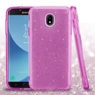 *Sale* Full Glitter Hybrid Protective Case for Samsung Galaxy J7 (2018) - Purple