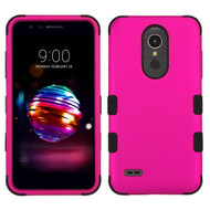Military Grade Certified TUFF Hybrid Armor Case for LG K30 - Hot Pink