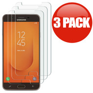 *SALE* HD Premium 2.5D Round Edge Tempered Glass Screen Protector for Samsung Galaxy J7 (2018) - 3 Pack