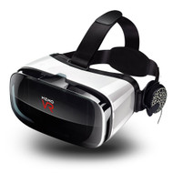 3D VR Headset Viewing Glasses Virtual Reality Goggle with Wireless Gamepad Controller and Headphones - Black