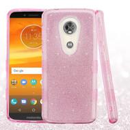 Tuff Full Glitter Hybrid Protective Case for Motorola Moto E5 Plus - Pink