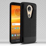 Leather Texture Anti-Shock Hybrid Protection Case for Motorola Moto E5 Plus - Black