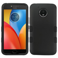 Military Grade Certified TUFF Hybrid Armor Case for Motorola Moto E4 Plus - Black 001