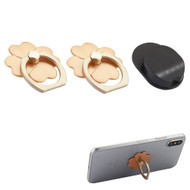 Smart Loop Universal Smartphone Holder & Stand with Hook Mount - Flower Gold Twin Pack