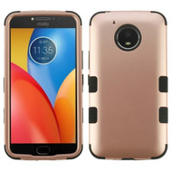 Military Grade Certified TUFF Hybrid Armor Case for Motorola Moto E4 Plus - Rose Gold