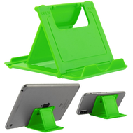 Adjustable Desktop Folding Stand for Tablet and Smartphone - Green