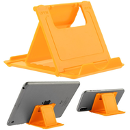 Adjustable Desktop Folding Stand for Tablet and Smartphone - Yellow