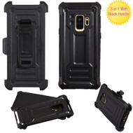 Advanced Hybrid Armor Case and Holster for Samsung Galaxy S9 - Black