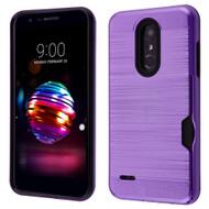 *Sale* ID Card Slot Hybrid Case for LG K30 - Purple