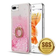 Quicksand Glitter Case with Smart Loop Ring Holder for iPhone 8 Plus / 7 Plus / 6S Plus / 6 Plus - Pink