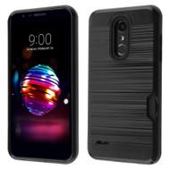 *Sale* ID Card Slot Hybrid Case for LG K30 - Black