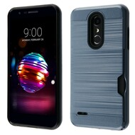 *Sale* ID Card Slot Hybrid Case for LG K30 - Blue