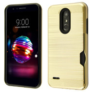 *Sale* ID Card Slot Hybrid Case for LG K30 - Gold