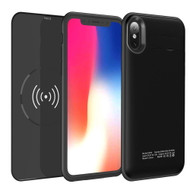 *Sale* 3-IN-1 Power Bank Battery Case 5000mAh with Removable Wireless Qi Charging Pad for iPhone X - Black