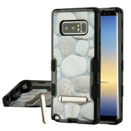 Military Grade Certified TUFF Image Hybrid Armor Case with Stand for Samsung Galaxy Note 8 - Pebbles
