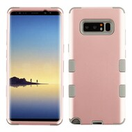 Military Grade Certified TUFF Hybrid Armor Case for Samsung Galaxy Note 8 - Rose Gold Iron Grey