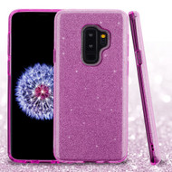 Full Glitter Hybrid Protective Case for Samsung Galaxy S9 Plus - Purple