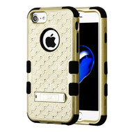 Military Grade Certified TUFF Diamond Hybrid Armor Case with Stand for iPhone 8 / 7 / 6S / 6 - Gold