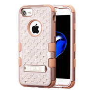 Military Grade Certified TUFF Diamond Hybrid Armor Case with Stand for iPhone 8 / 7 / 6S / 6 - Rose Gold 403
