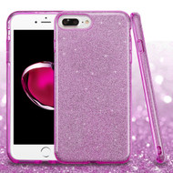 Full Glitter Hybrid Protective Case for iPhone 8 Plus / 7 Plus / 6S Plus / 6 Plus- Purple