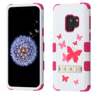Military Grade Certified TUFF Hybrid Armor Image Case with Stand for Samsung Galaxy S9 - Butterfly Dancing