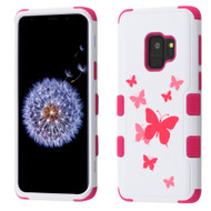 Military Grade Certified TUFF Image Hybrid Armor Case for Samsung Galaxy S9 - Butterfly Dancing