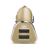 HyperGear High Power Dual USB 2.4A Car Charger - Gold