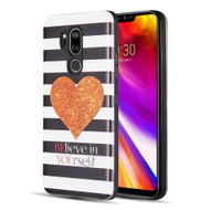 Art Pop Series 3D Embossed Printing Hybrid Case for LG G7 ThinQ - Heart