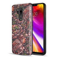 Art Pop Series 3D Embossed Printing Hybrid Case for LG G7 ThinQ - Leaves