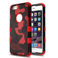 Military Grade Certified TUFF Image Hybrid Case for iPhone 6 Plus / 6S Plus - Camouflage Red