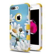 Military Grade Certified TUFF Image Hybrid Armor Case for iPhone 8 Plus / 7 Plus - Daisy Field