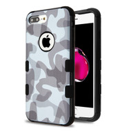 Military Grade Certified TUFF Image Hybrid Armor Case for iPhone 8 Plus / 7 Plus - Camouflage Grey