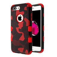 Military Grade Certified TUFF Image Hybrid Armor Case for iPhone 8 Plus / 7 Plus - Camouflage Red