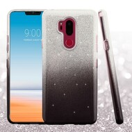 Full Glitter Hybrid Protective Case for LG G7 ThinQ - Gradient Black