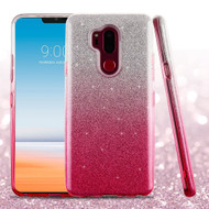 Full Glitter Hybrid Protective Case for LG G7 ThinQ - Gradient Pink