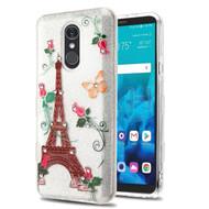 *Sale* Tuff Full Glitter Diamond Hybrid Protective Case for LG Stylo 4 - Paris Monarch Butterflies