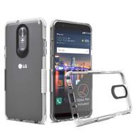 *Sale* Transparent Protective Bumper Case for LG Stylo 4 - White