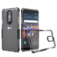 Transparent Protective Bumper Case for LG Stylo 4 - Black
