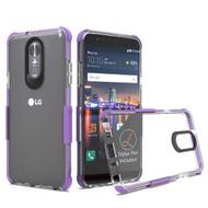 Transparent Protective Bumper Case for LG Stylo 4 - Purple