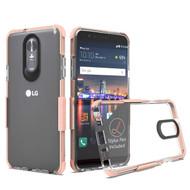 *Sale* Transparent Protective Bumper Case for LG Stylo 4 - Rose Gold