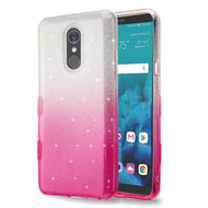 Tuff Full Glitter Hybrid Protective Case for LG Stylo 4 - Gradient Pink