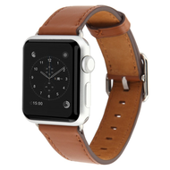 Genuine Leather Watch Band for Apple Watch 44mm / 42mm - Brown