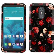 Military Grade Certified TUFF Hybrid Armor Case for LG Stylo 4 - Red and White Roses