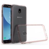 Polymer Transparent Hybrid Case for Samsung Galaxy J7 (2018) - Rose Gold