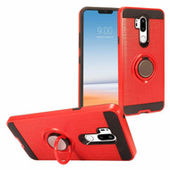 *Sale* Sports Hybrid Armor Case with Smart Loop Ring Holder for LG G7 ThinQ - Red