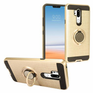 *Sale* Sports Hybrid Armor Case with Smart Loop Ring Holder for LG G7 ThinQ - Gold